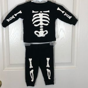 Carters 3 months Halloween Skeleton Outfit